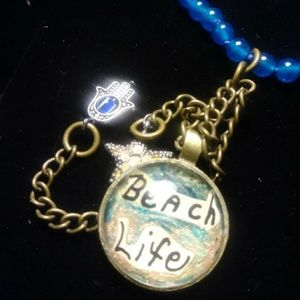 Beach life necklace.